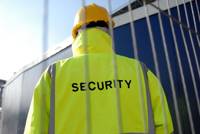 Security Guard Protecting Property stock image