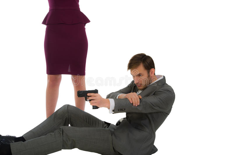 Download Bodyguard Protects The Woman Stock Photo - Image: 30058480