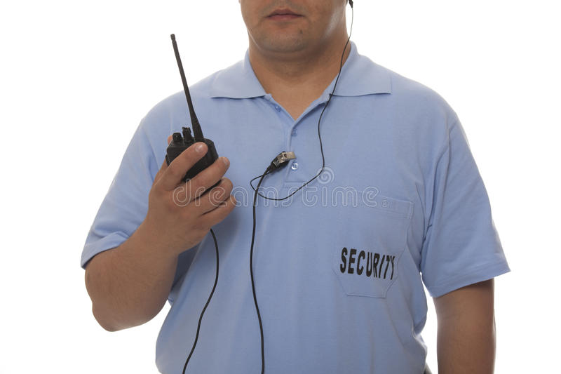 Security Guard With Walkie Talkie Stock Images