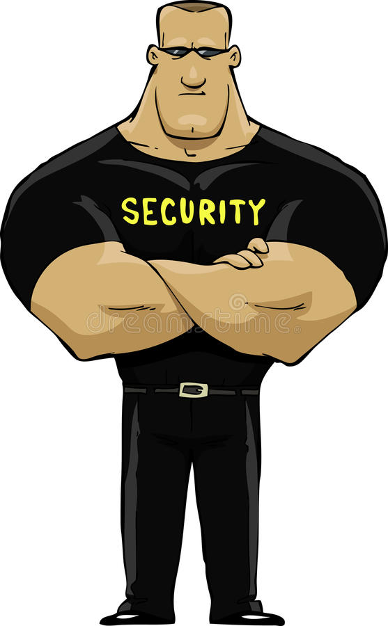 Security guard. On a white background vector