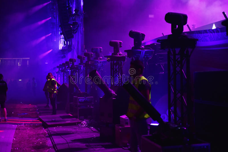 Security guards and stewards at a concert royalty free stock photo