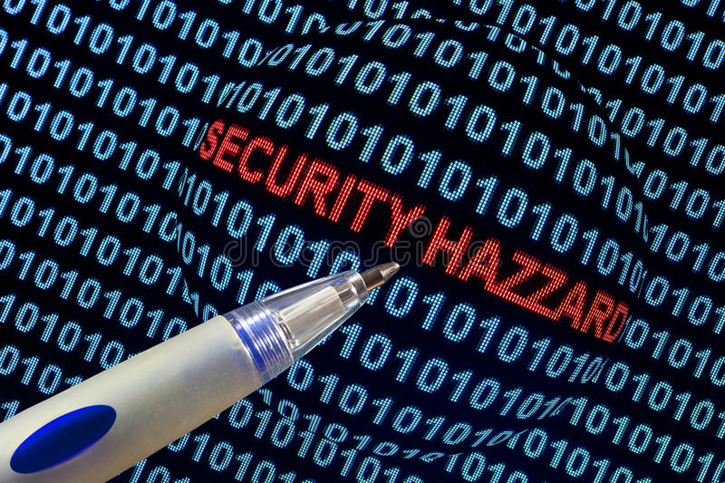 Security Hazard in Red royalty free stock photography