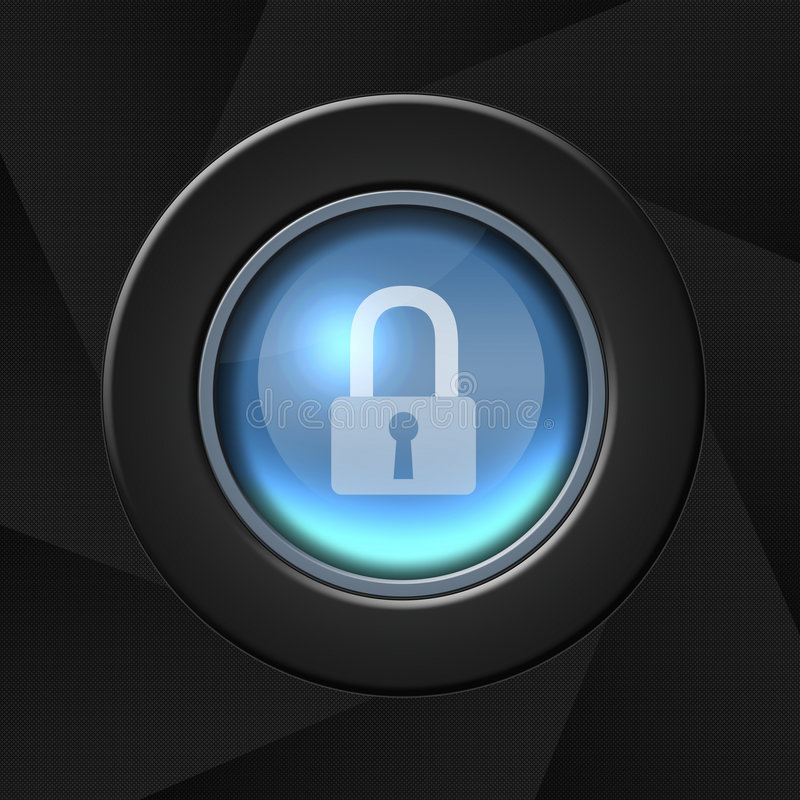 Security icon. Over aperture style background stock illustration