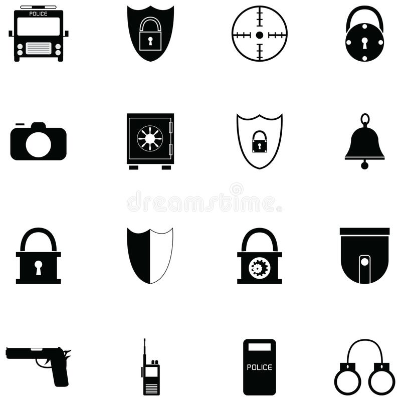 Security icon set vector illustration
