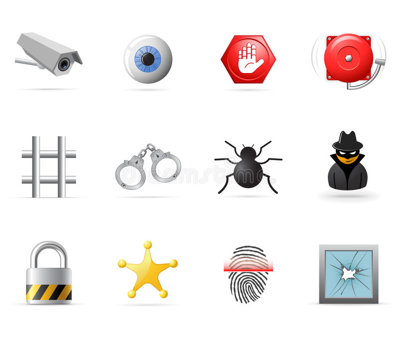 Security icons stock illustration