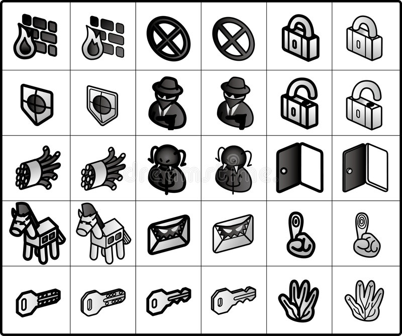 Security Icons vector illustration