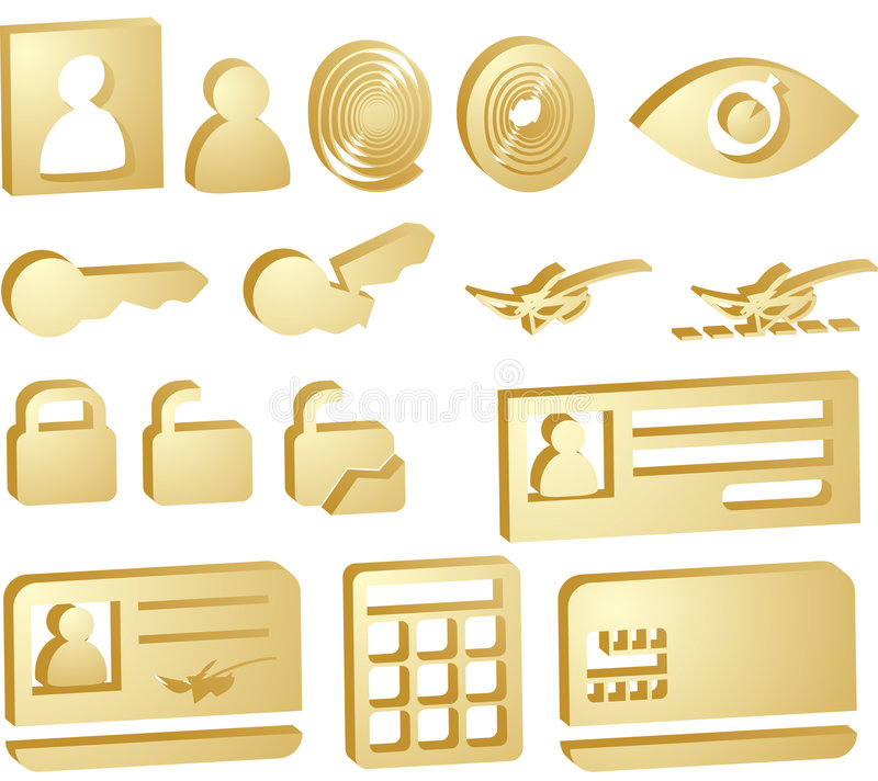 Download Security icons stock illustration. Illustration of signature - 8877258