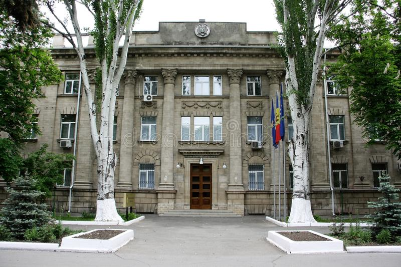 Security and Intelligence Service of Moldova headquaters. Main building (Headquaters) of the Security and Intelligence Service of Republic of Moldova in Chisinau stock photo