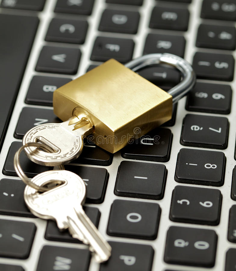 Download Security On Internet, Keyboard And Lock Macro Stock Photo - Image: 15963098