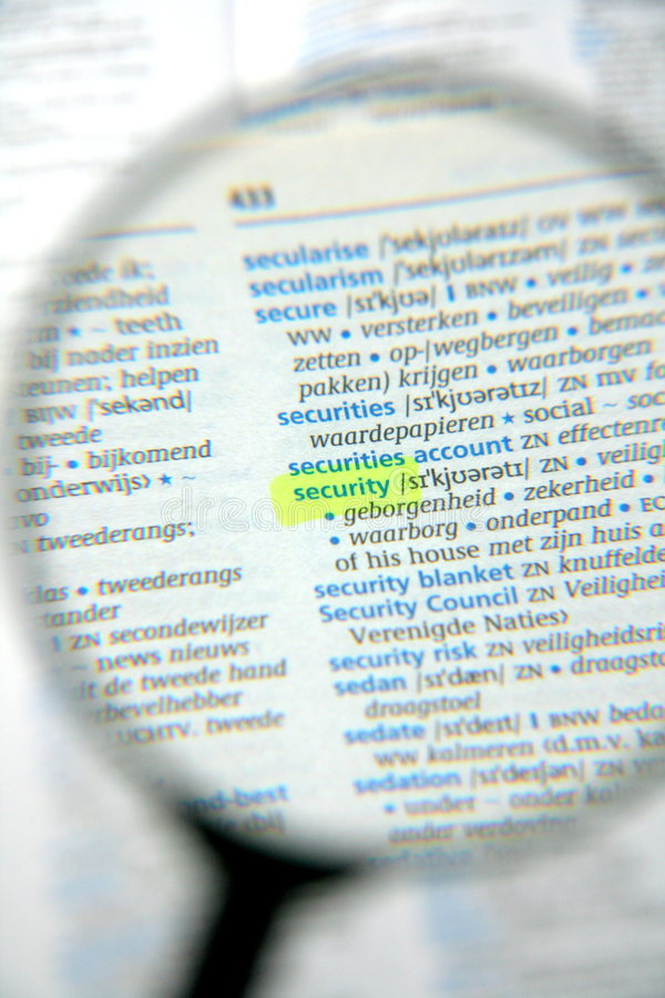 Security issues royalty free stock photo