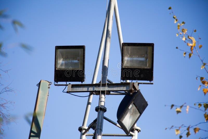 Security lights royalty free stock photos