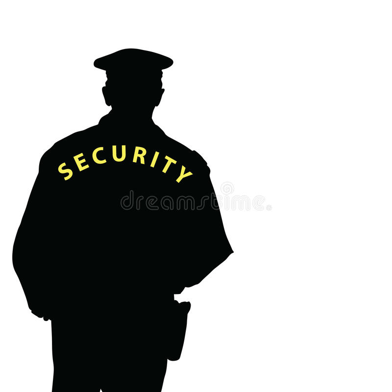Security man color vector royalty free illustration