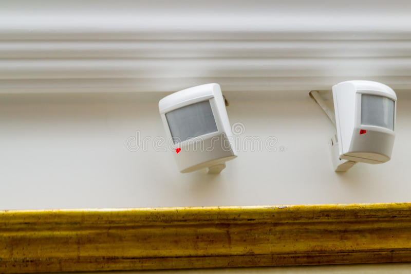 Security motion detectors royalty free stock images