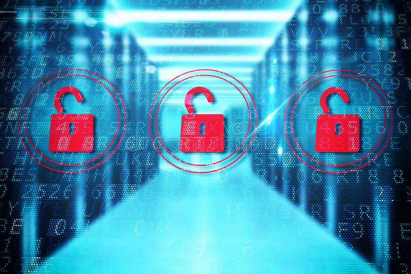 Security open padlock royalty free stock photography