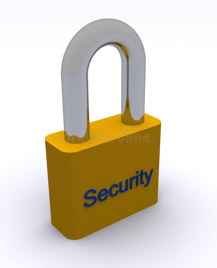Download Security padlock stock illustration. Illustration of protective - 14544023