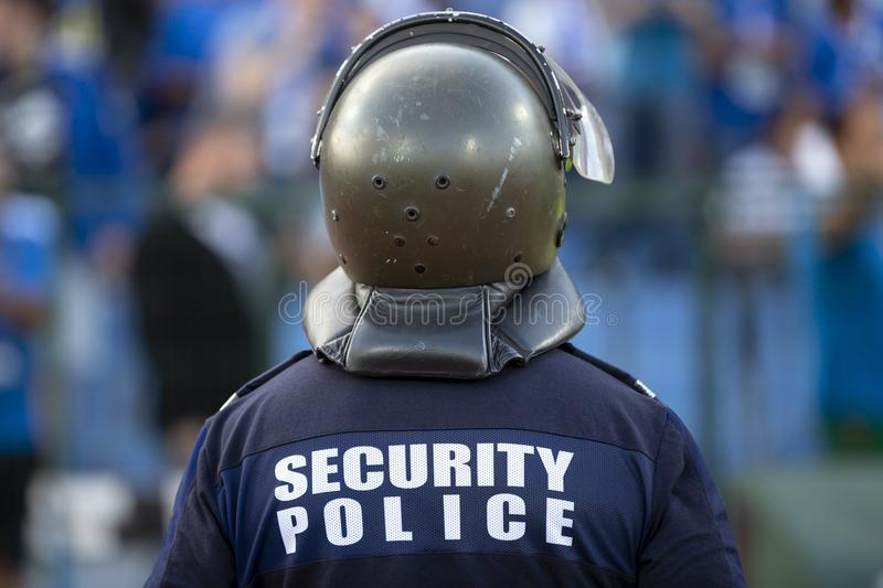 Security police officer royalty free stock photo