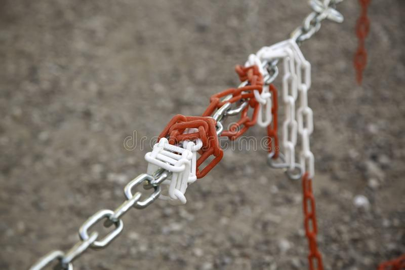 Security protection chain royalty free stock photos