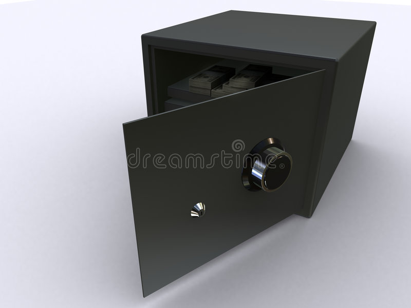 Security safe stock illustration