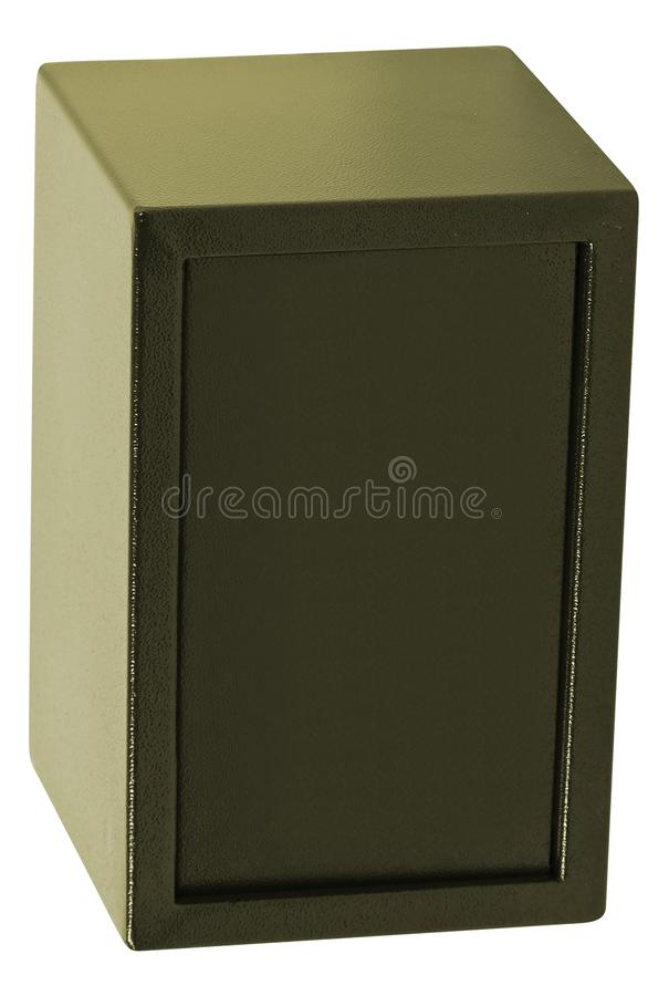 Security safe isolated on white stock photography