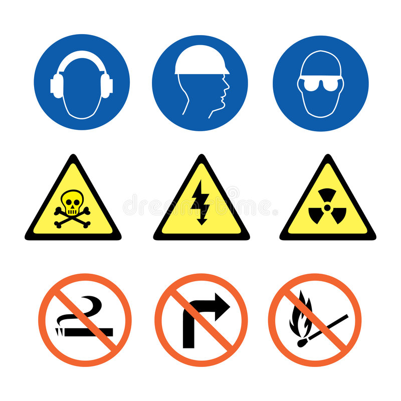 Security Signs royalty free illustration