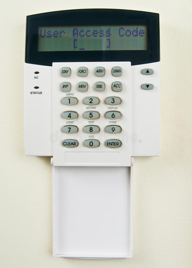Security system. Requiring to enter access code royalty free stock images