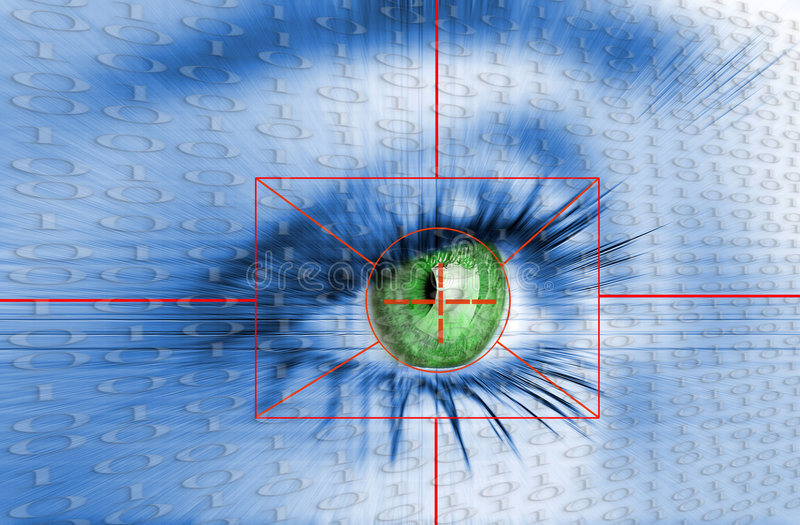 Security system. Eye system future security identification