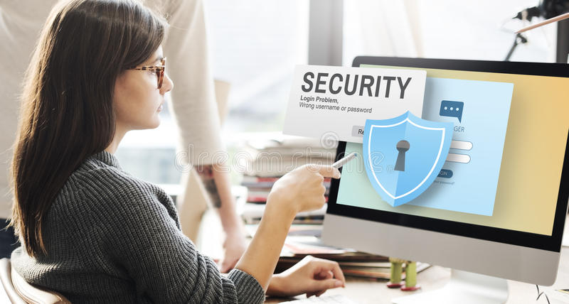 Security System Access Password Data Network Surveillance Concept stock photo