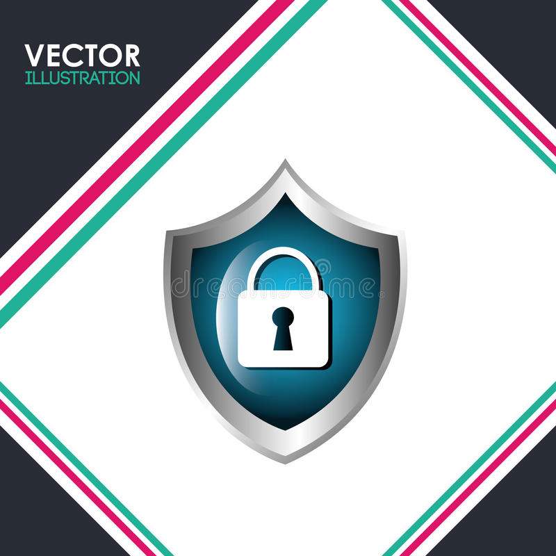 Security system design. Illustration eps10 graphic vector illustration