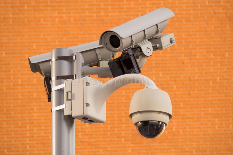 Security systems monitor stock image
