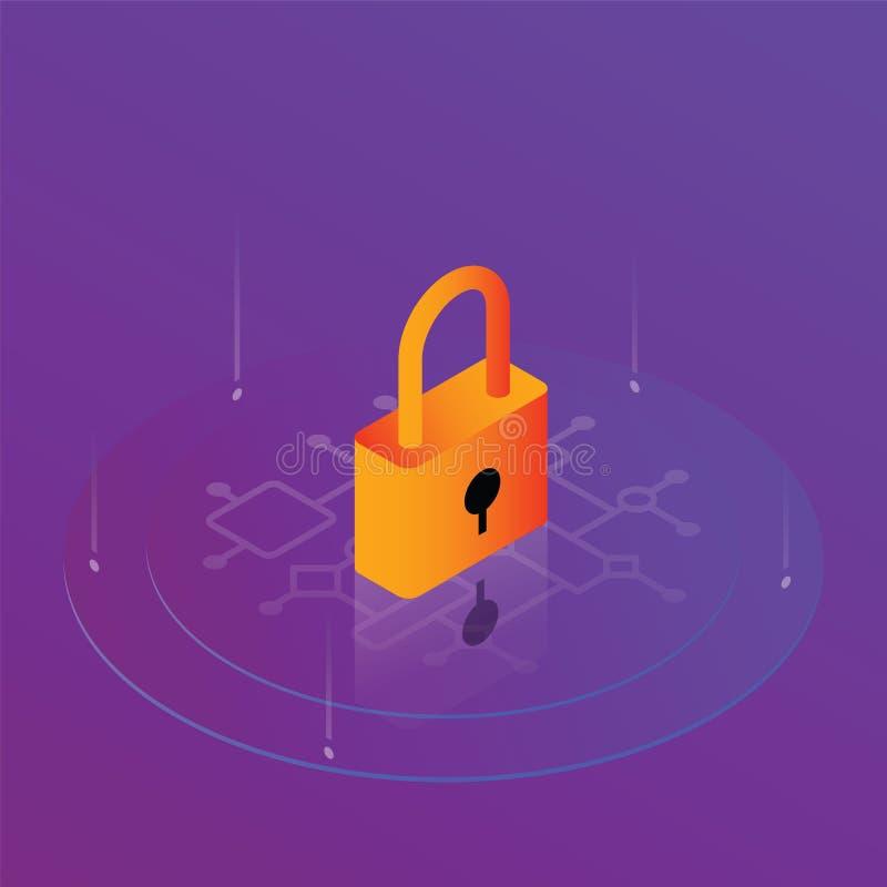 Security technology digital internet stock illustration