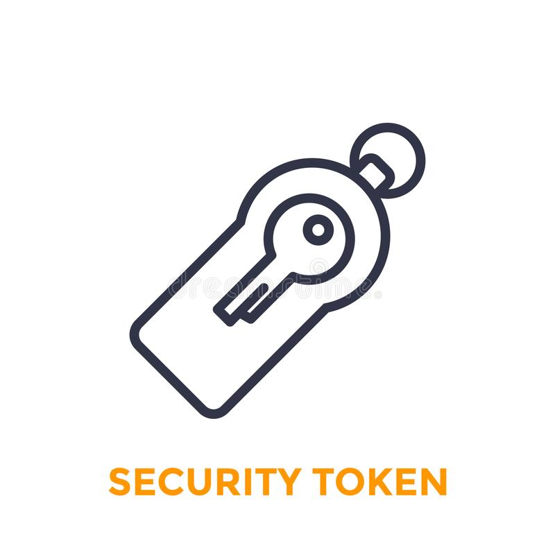 Security token icon stock vector  Illustration of session
