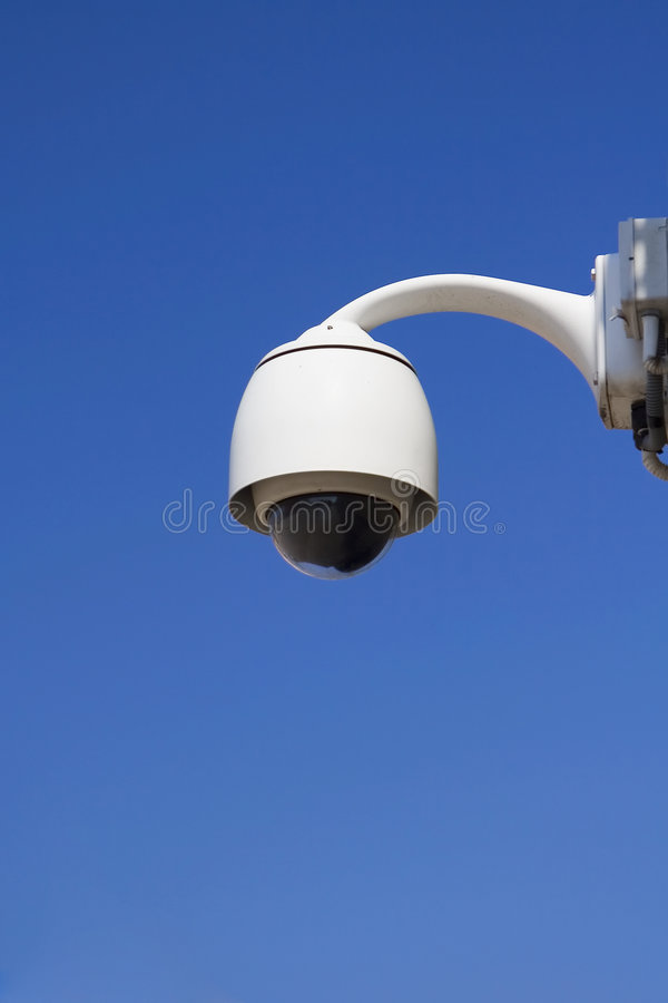 Security video camera. stock photos