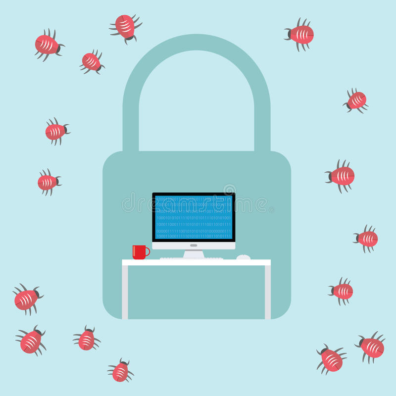 Free Security Virus Malware Attack Royalty Free Stock Images - 60031039