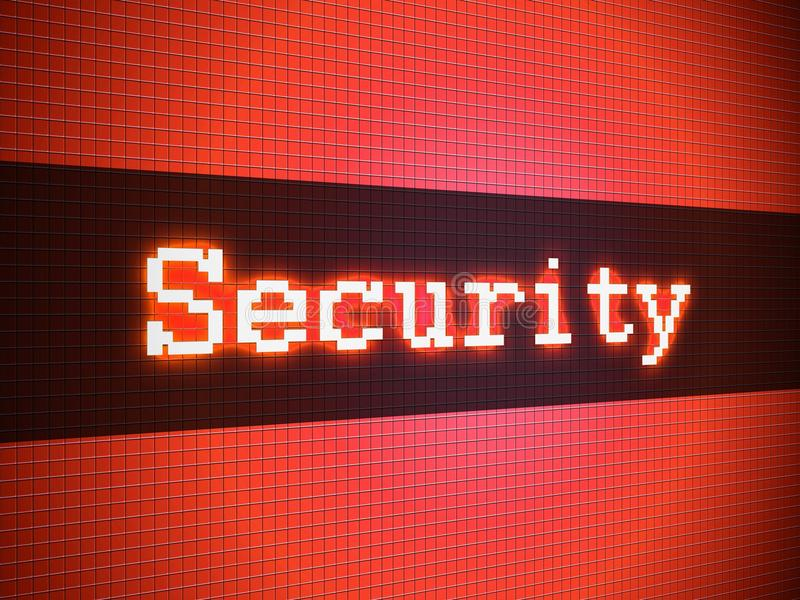 Download Security word on display stock illustration. Illustration of security - 29654544