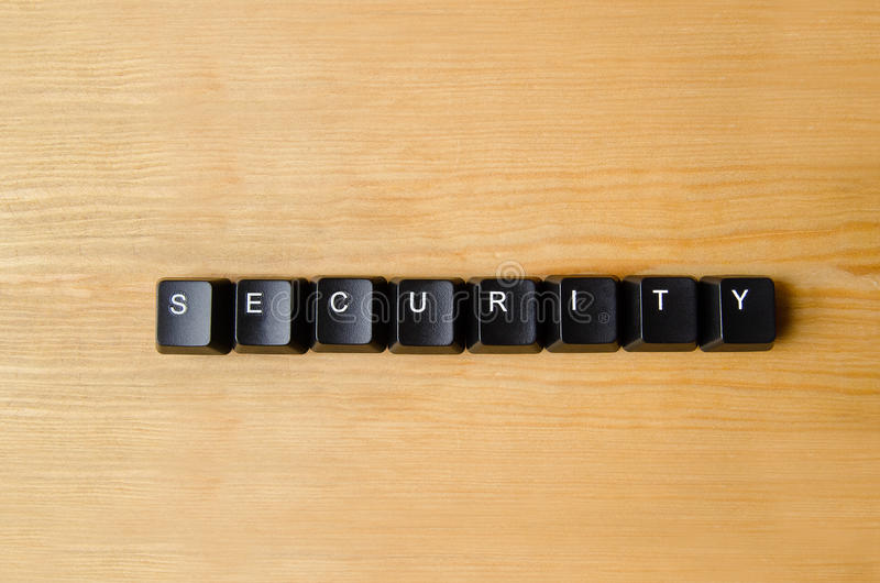 Security word stock image