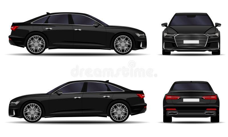 Sedán realista del coche ilustración del vector