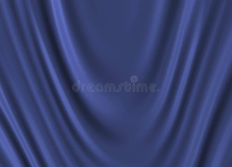 Seda azul ilustração stock