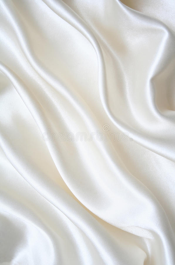 Seda branca elegante lisa como o fundo imagens de stock royalty free