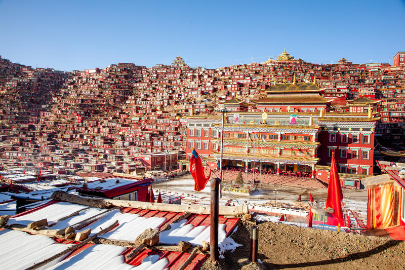 Seda buddhish szkoła wyższa zdjęcie stock