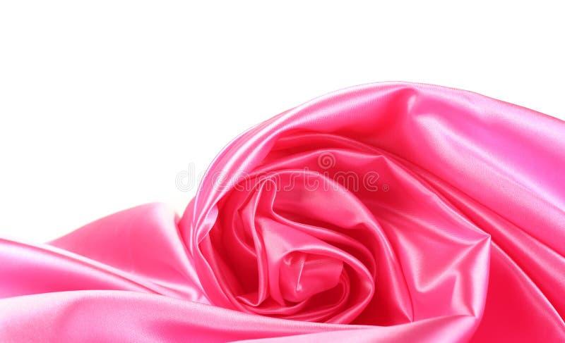 A seda cor-de-rosa drapeja fotografia de stock