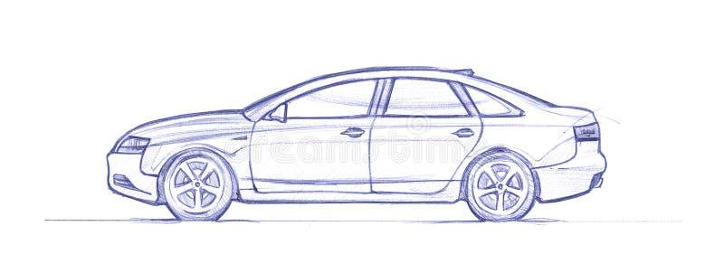 Download Sedan stock illustration. Illustration of cartoon, sketch - 30535029