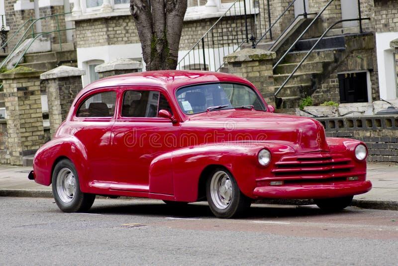Sedan 1948 da cidade de Chevrolet Stylemaster na rua de Londres Reino Unido fotos de stock