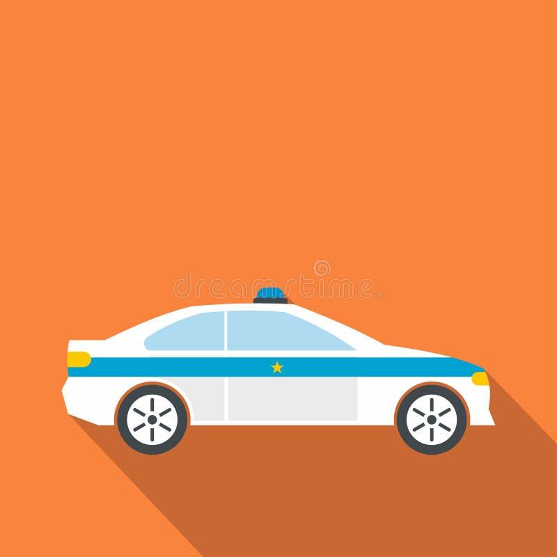 Sedan da polícia liso ilustração stock