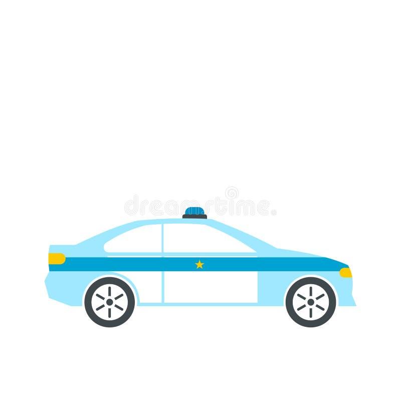 Sedan da polícia liso ilustração do vetor