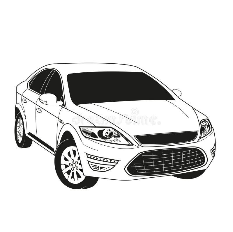 Sedan do automóvel do carro ilustração do vetor