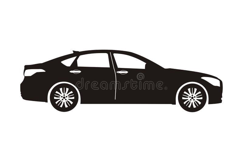 Sedan do carro do ícone imagens de stock royalty free