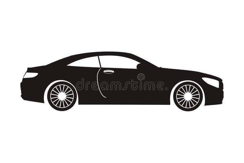 Sedan do carro do ícone ilustração royalty free