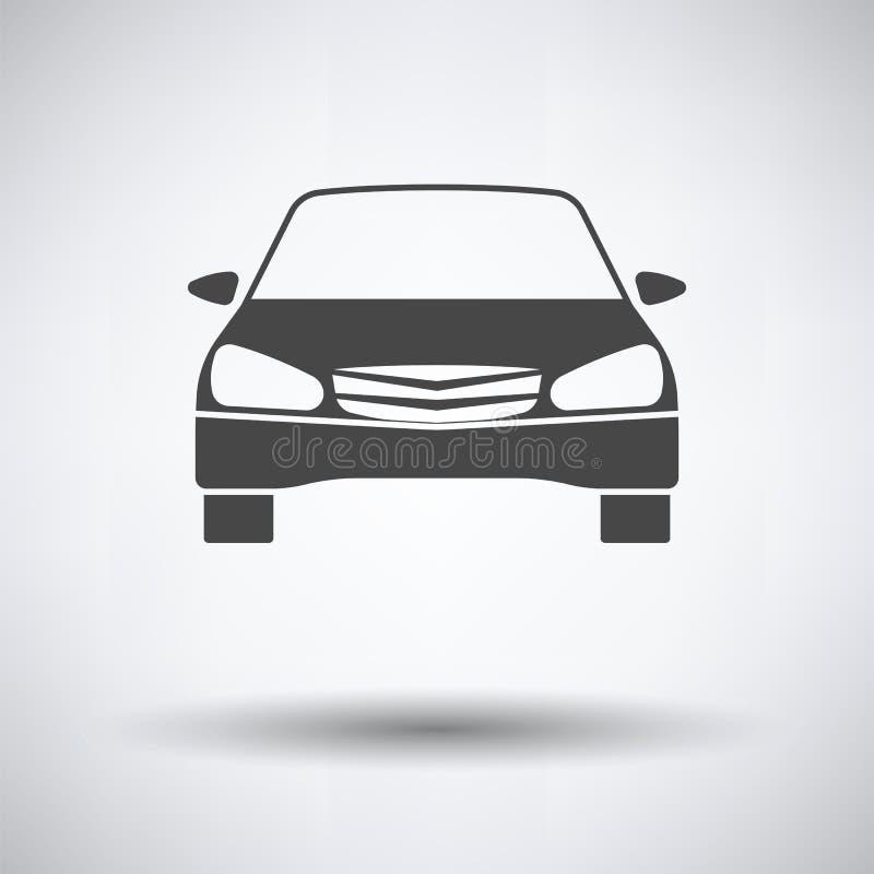 Sedan samochodowej ikony frontowy widok royalty ilustracja