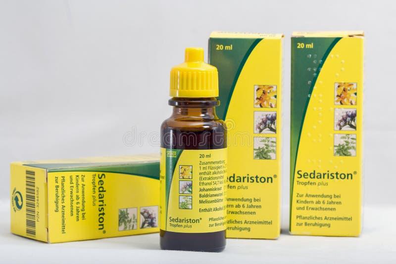 Sedariston emballe par Aristo Pharma photos libres de droits