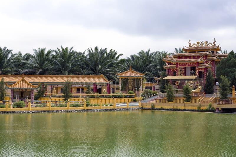 Sedd Hock Yeen, Konfucius tempel, Chemor, Malaysia royaltyfria bilder
